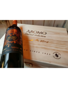 Houten Kist 6 flessen Aromo Barrel Selection 2016 6x75cl