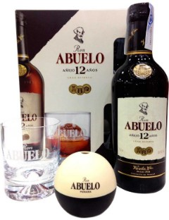 Abuelo12y Gift pack Icemoulder Glass 70cl 40%