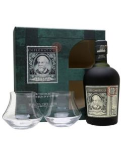 Diplomatico Reserva exclusiva gift pack 2 glas. 40% 70cl