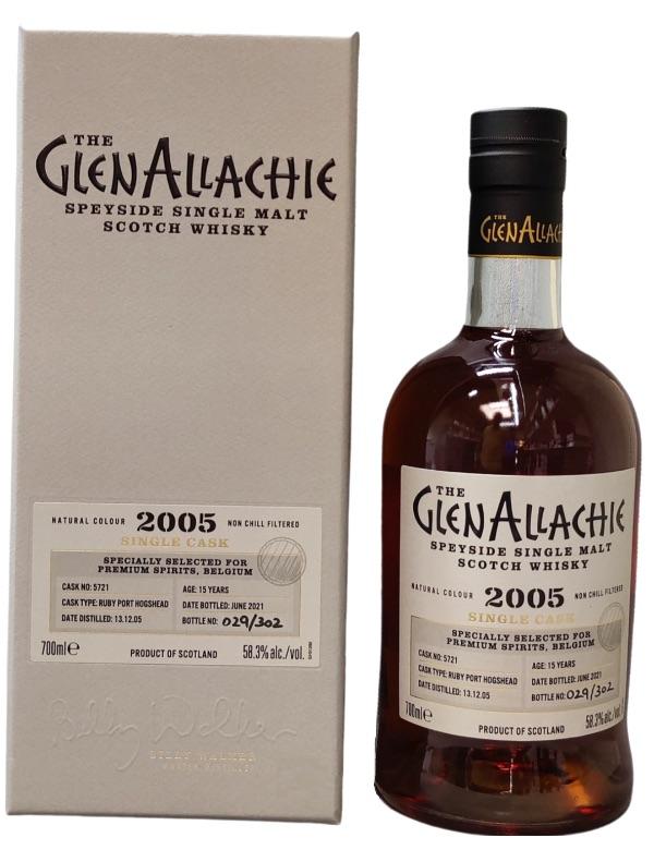 Glenallachie 2005 Single Cask Belgium Ruby Port 58.3% 70cl