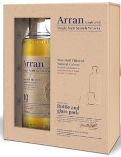 Arran 10 years New Gift Pack   2 Glasses 46% 70cl